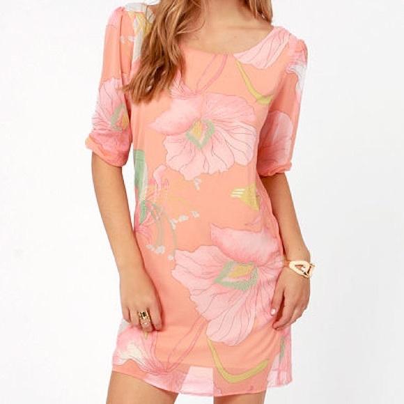 355dee256f8d Lulu's Dresses | Final Markdown Lulus Floral Print Shift Dress ...